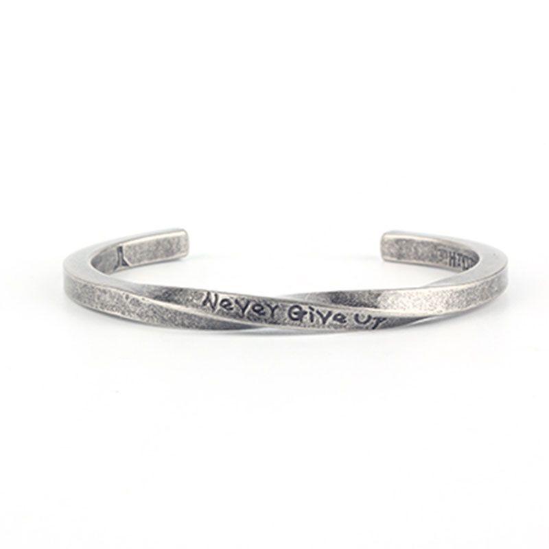 Bracelet spirale de la mode en Europe et aux États-Unis NEVER GIVEN UP inspirant couple hommes et femmes bracelet bijoux