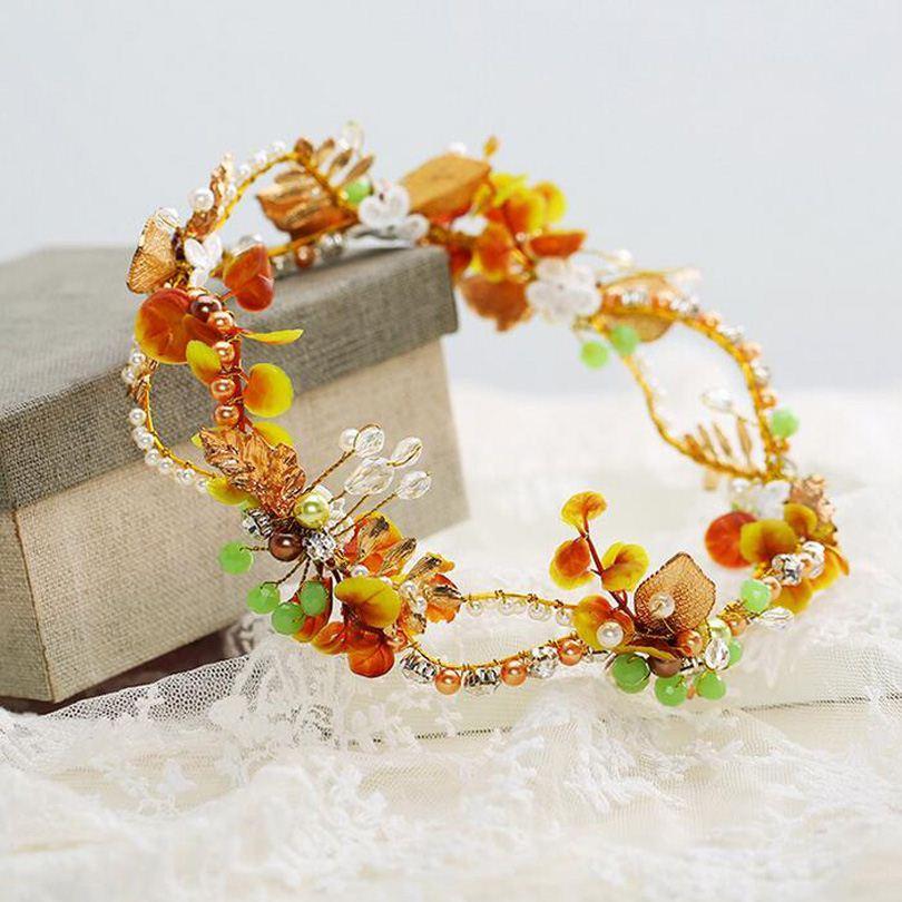 Barroco Mais Novo Noiva Cabelo Jóias Artesanais Pérola de Cristal Coroa De Noiva Hairbands Tiara Bijoux Headband Do Casamento Da Moda Acessórios Para o Cabelo