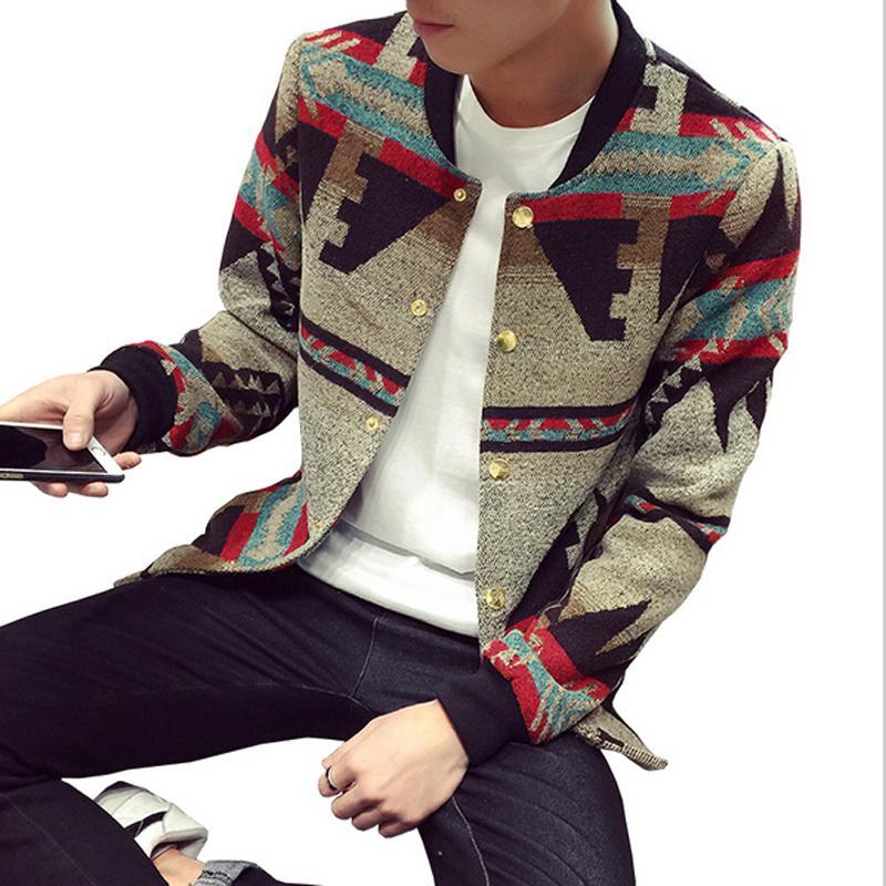 Al por mayor-Bomber Jacket Men Jacket Coat Invierno casual chaquetas y abrigos para hombre casaco masculino cortavientos hombre 2017 Estilo Nacional