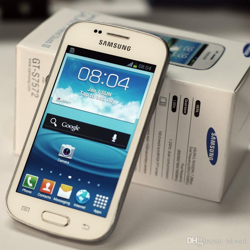 سامسونج GALAXY تريند DUOS II S7572 S7562I الجيل الثالث 3G الهاتف الذكي 4.0Inch شاشة Android4.1 WIFI GPS ثنائي النواة مفتوح