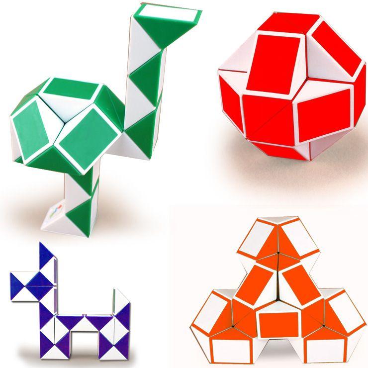Mini serpiente creativa mágica cambiable para el niño cubo mágico rompecabezas juego Chueco mitigador de la tensión de la serpiente Juguetes Colección