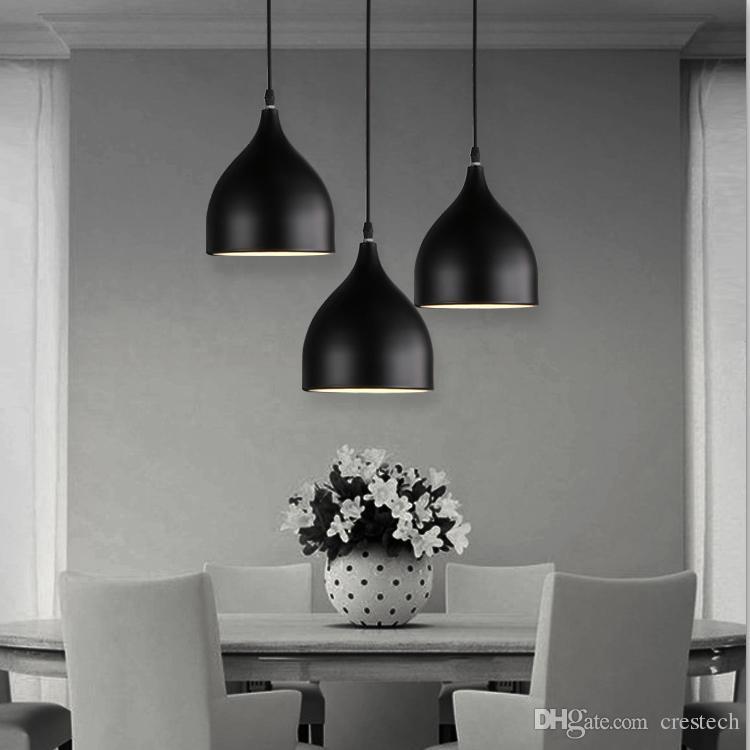 Restoran lambaları Alüminyum lale kolye aydınlatma lambaları bir çanta Nordic klasik kombinasyonu yemekler avizeler E27 Üç tek kafalı avize