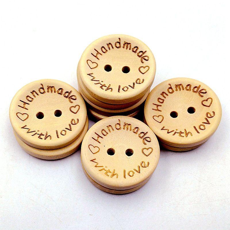 Pulsanti in legno da 15 mm 2 fori rotondi amore cuore per scatola regalo fatti a mano Scrapbook artigianale decorazione partito fai da te preferisci accessori per cucire