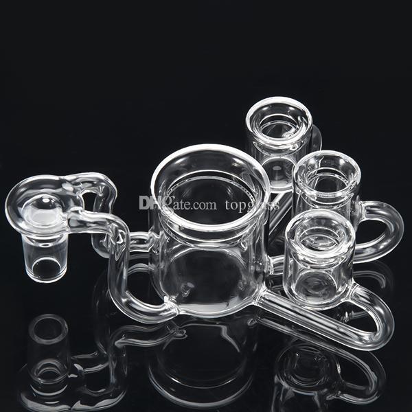 NOVITÀ XXL 50 millimetri quarzo termico Pukin Beagle Banger con 3 ciotole in più 14mm 19mm maschio femmina giunto termico P Banger per tubi di acqua in vetro