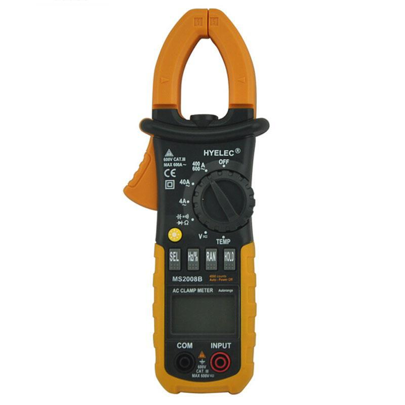 Freeshipping Digital AC Clamp Meter 4000 Counts w/ Back light Electrical current clamp tester multimeter