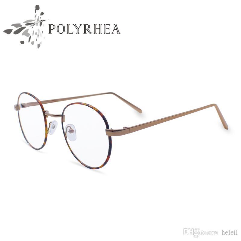 광학 안경 프레임 슈퍼 가벼운 무게 빈티지 라운드 원래 명확한 렌즈 브랜드 디자이너 남자 여성 안경 상자
