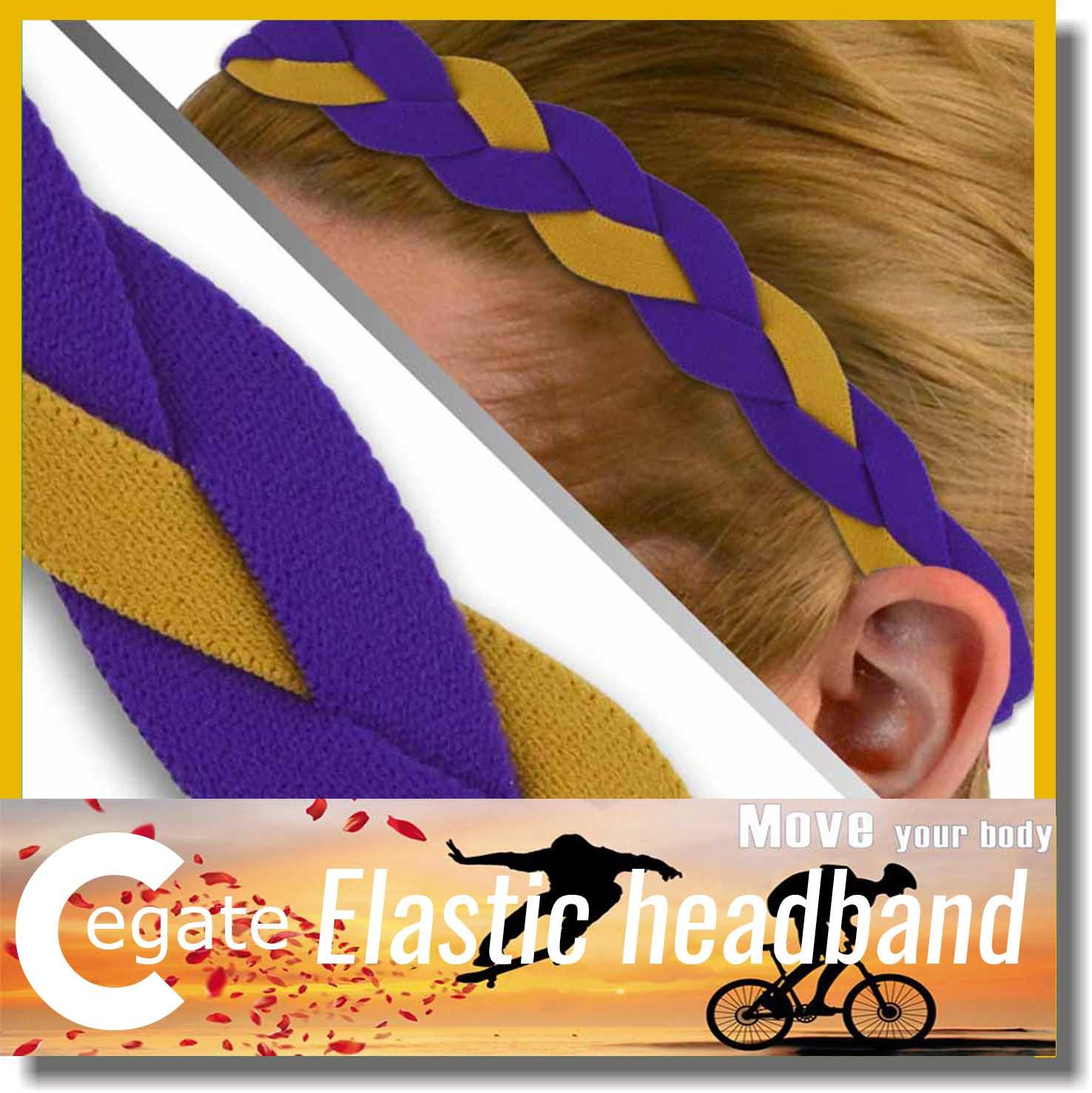 2016 Hot sale softball braided headbands sports headbands mini softball headband free shipping