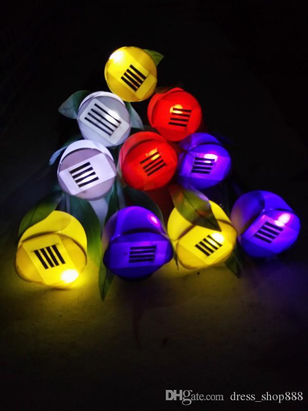 Tulip Garden Solar lawn lanterns 1 LED household decorative holiday villa landscape garden lighting Mid