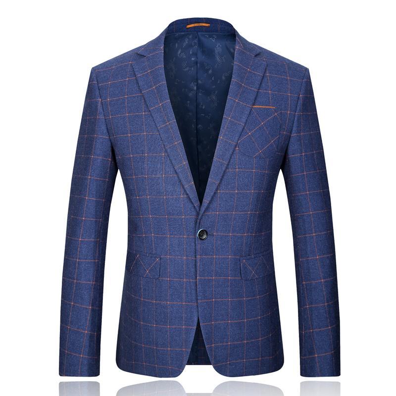 All'ingrosso 2015 nuovo arrivo di stile italiano maschile griglia viscosa lana di poliestere sportive casuali Abito da sposa trasporto libero plus-size M-3XL