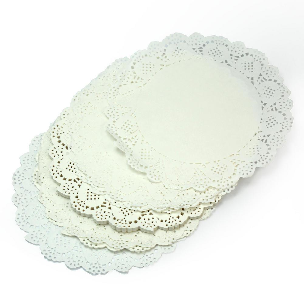 New 50pcs/Lot Beautiful White 19cm Round Lace Paper Cake Doilies Placemat Craft Home Wedding Party Prom Table DIY Decorations