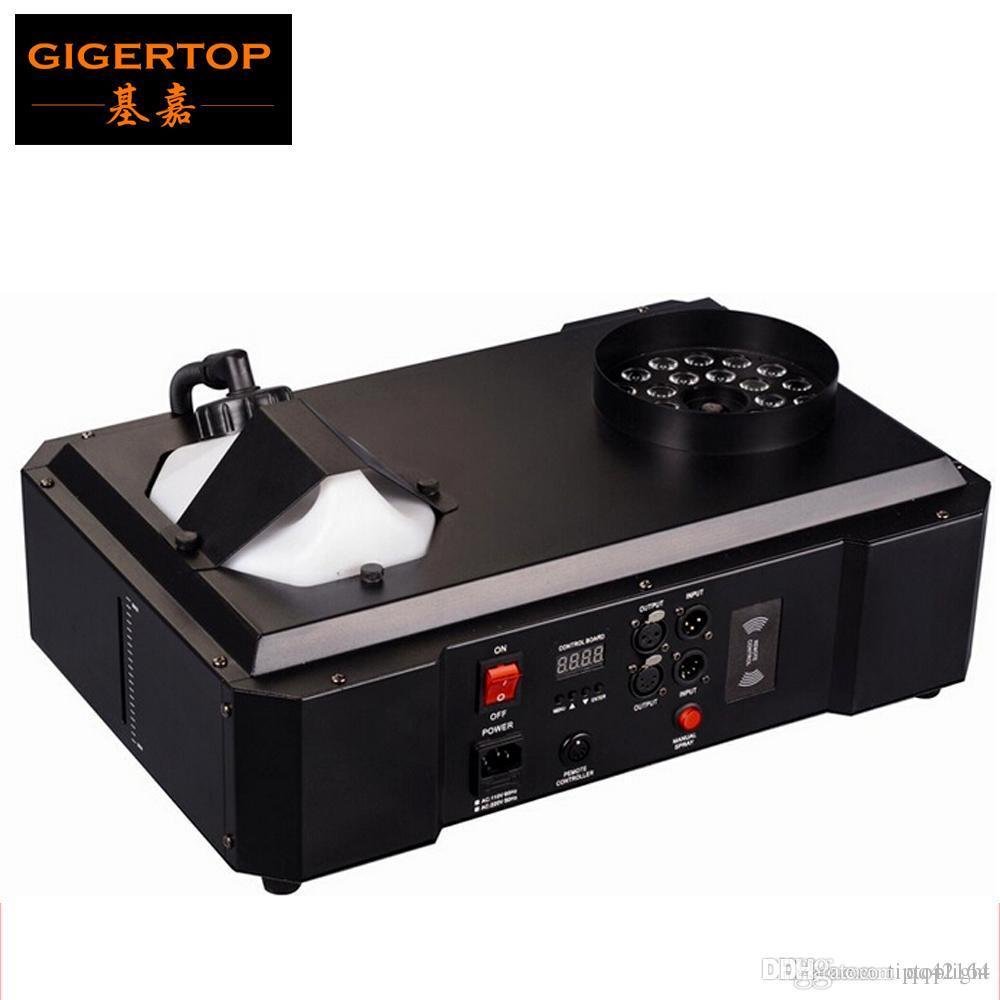 1500W DMX LED de la niebla Máquina Pyro vertical Máquina de Humo / Profesional Para Fogger equipo de la etapa de DMX 512 de control inalámbrico 24 x 3W RGB