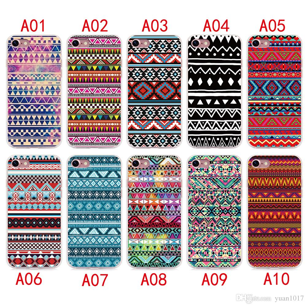2017 Aztec Tribal Tribe Case For iPhone X 8 7 6 6S plus Silicone Cover Case Luxury Ultra Thin Soft TPU For iPhone 5 4 se Mobile Phone bag