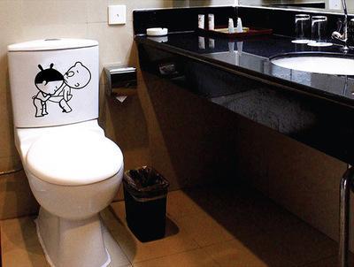 Acheter Salle De Bains Stickers Muraux Toilettes Décoration De La Maison  Étanche Stickers Muraux Pour Toilette Autocollant Pâte Décorative Décor À  La ...