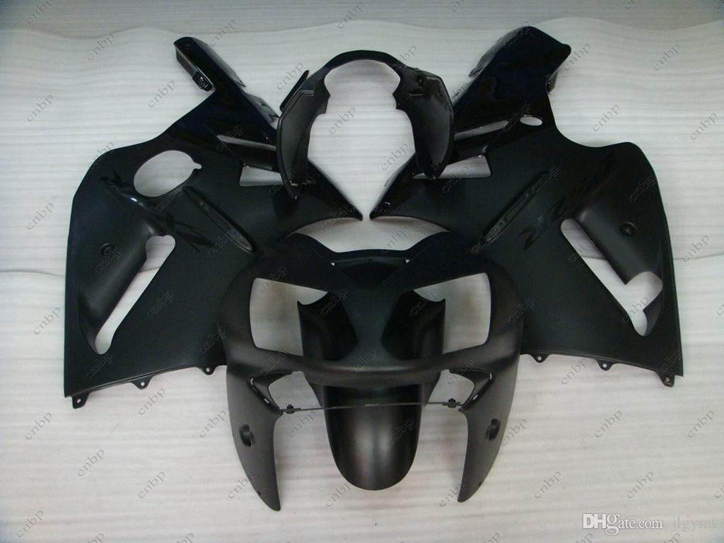 Kits de corpo para Kawasaki Zx12r 2004 Fairings de plástico Zx12r 2002 Kits de corpo inteiro preto Zx 12r 03 04 2002 - 2006