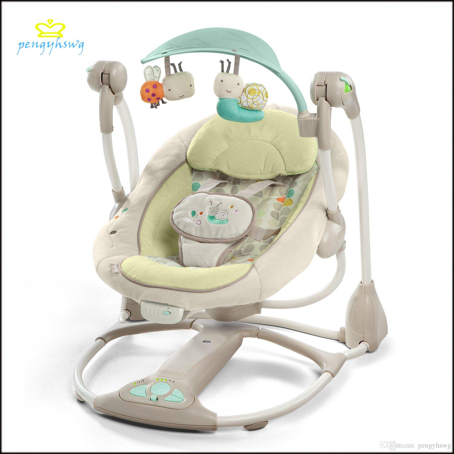 Electric baby rocker chair -  Spot Imported Baby Baby Music Electric Device Automatic Rocking Cradle To Sleep Safe And Comfortable Rest
