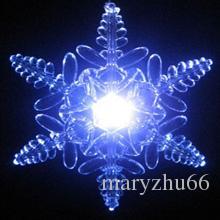 Flocon de neige en verre acrylique à LED changeant de couleur