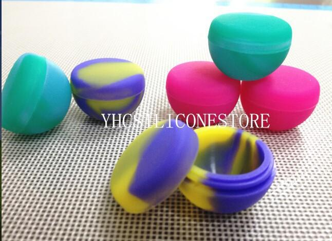 Wholesale- 100pcs bowl shape 9ml wax container oil slick silicone oil barrel container jars wax box small bowl Kitchen seasoning cream