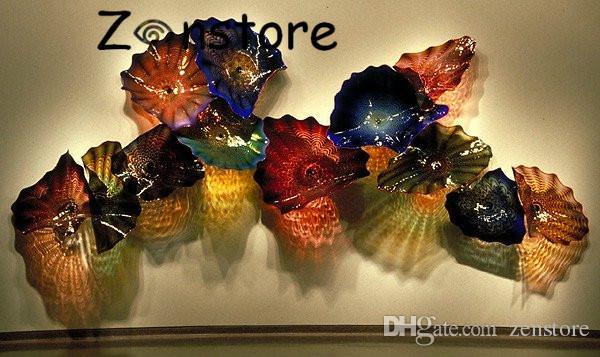 جديد وصول فن الزجاج لوحات الحائط اليدوية زجاج مورانو من إيطاليا شنقا لوحات الحائط ديكور زهرة