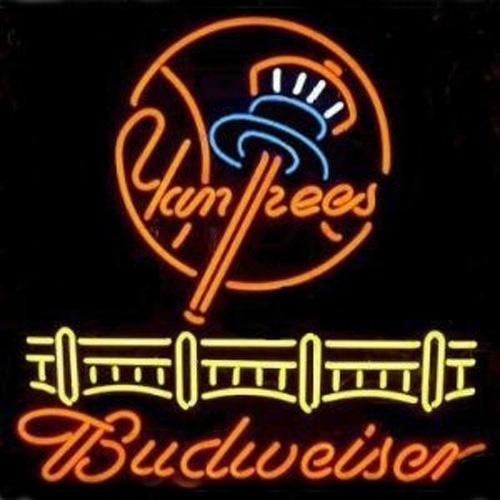 2019 Budweiser Yankees Neon Sign Custom Handmade Real Glass Store Beer Bar  KTV Club Motel Casino Advertising Display Neon Signs 24X20 From Neon_sign,
