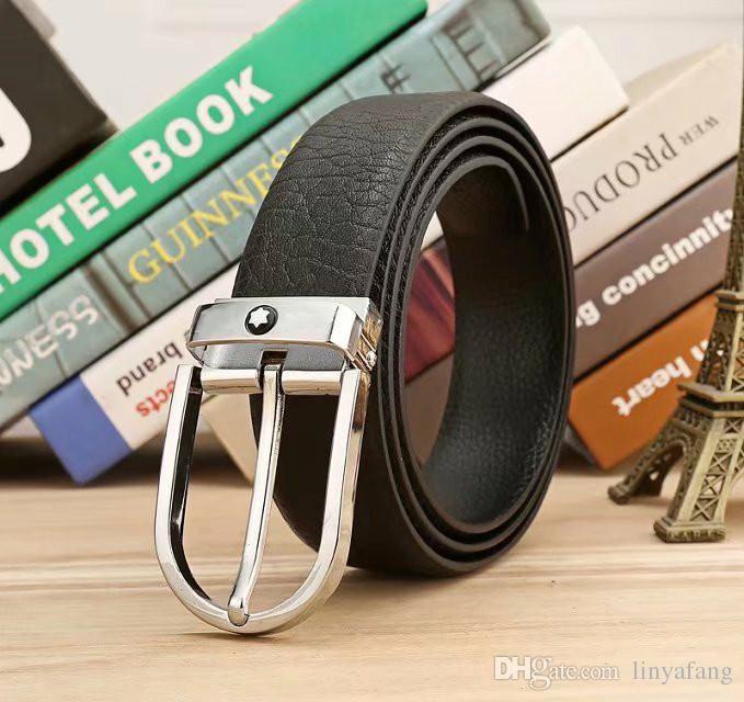 2017 Newest designer belts men high quality cowhide genuine leather belt pin buckle ceinture luxury mens belts