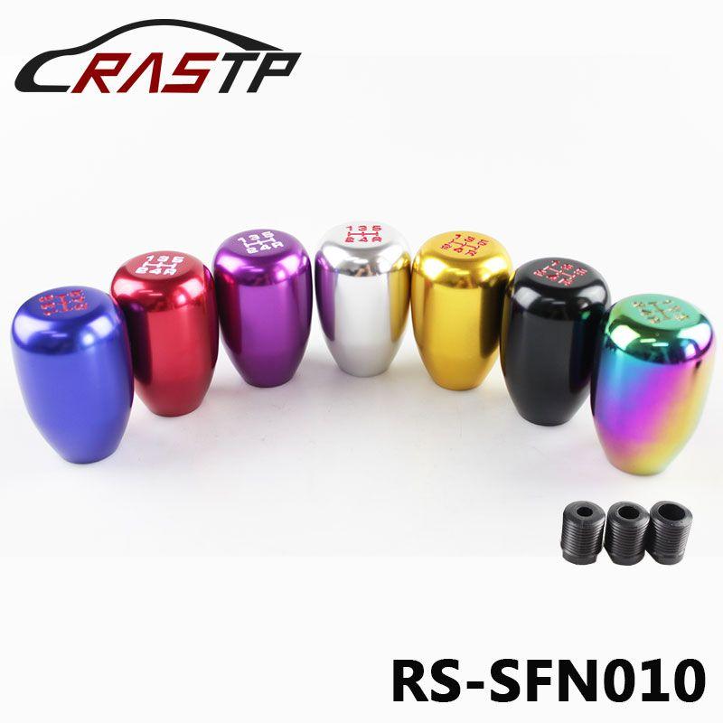 Livraison gratuite RASTP-RASTP-M10 * 1,5 5 vitesses manuelle voiture automatique CNC en aluminium billettes Gear Shifter Memory Stick Bouton Shift Pour Acura LS-SFN010