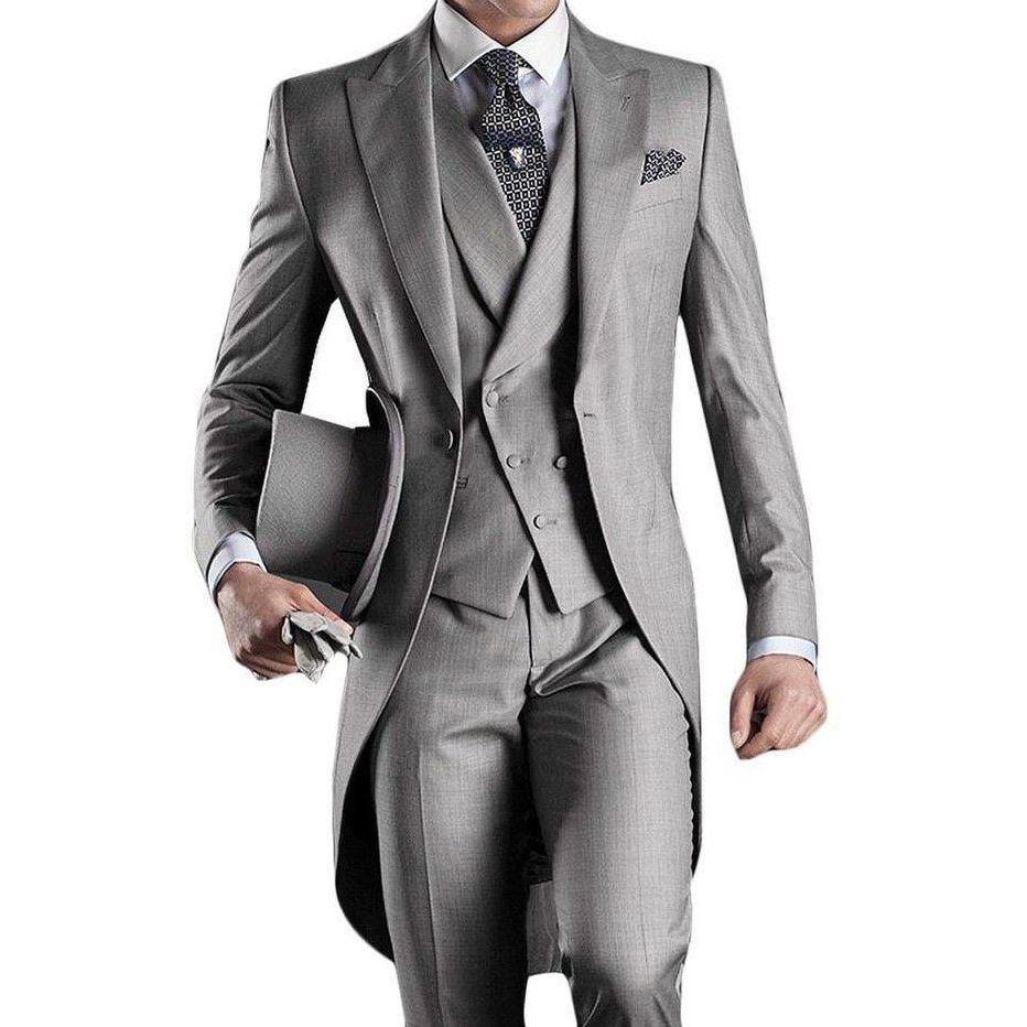 사용자 정의 만든 신랑 턱시도 신랑 텐 아침 스타일 14 스타일 최고의 남자 피크 옷깃 Groomsman 남자의 결혼식 정장 (자켓 + 바지 + 넥타이 + 조끼) J711