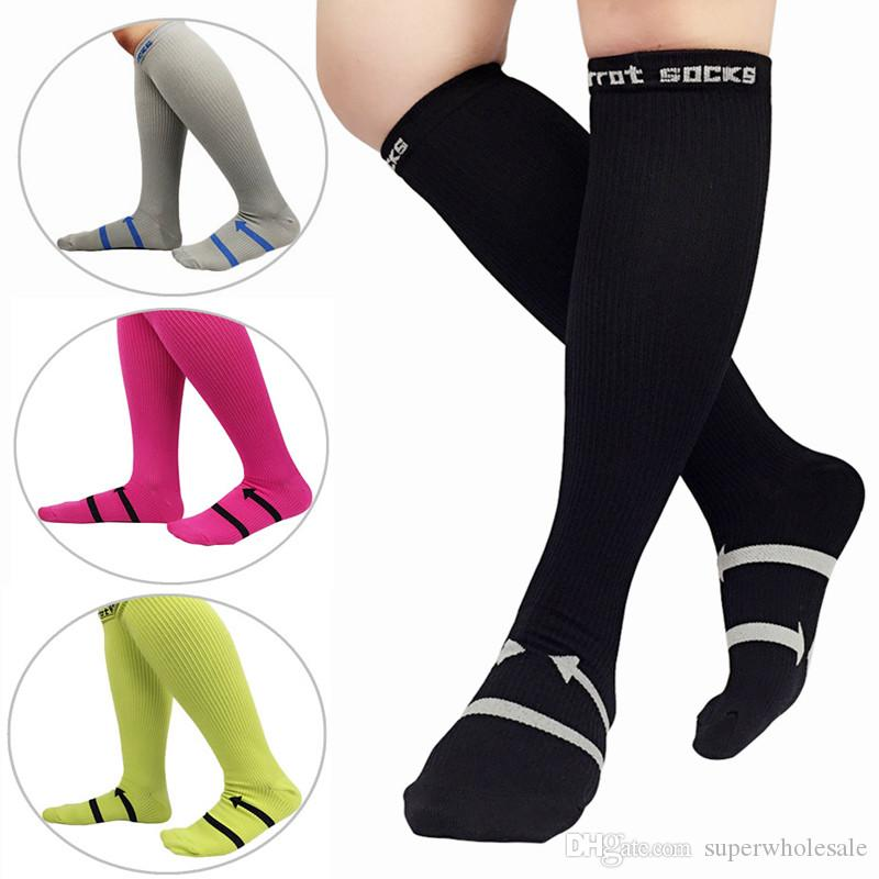 High Quality Muscle Hiking Socks Compression Socks Casual Stockings for Outside Fashion Standard Export Men Women Solid Long Socks