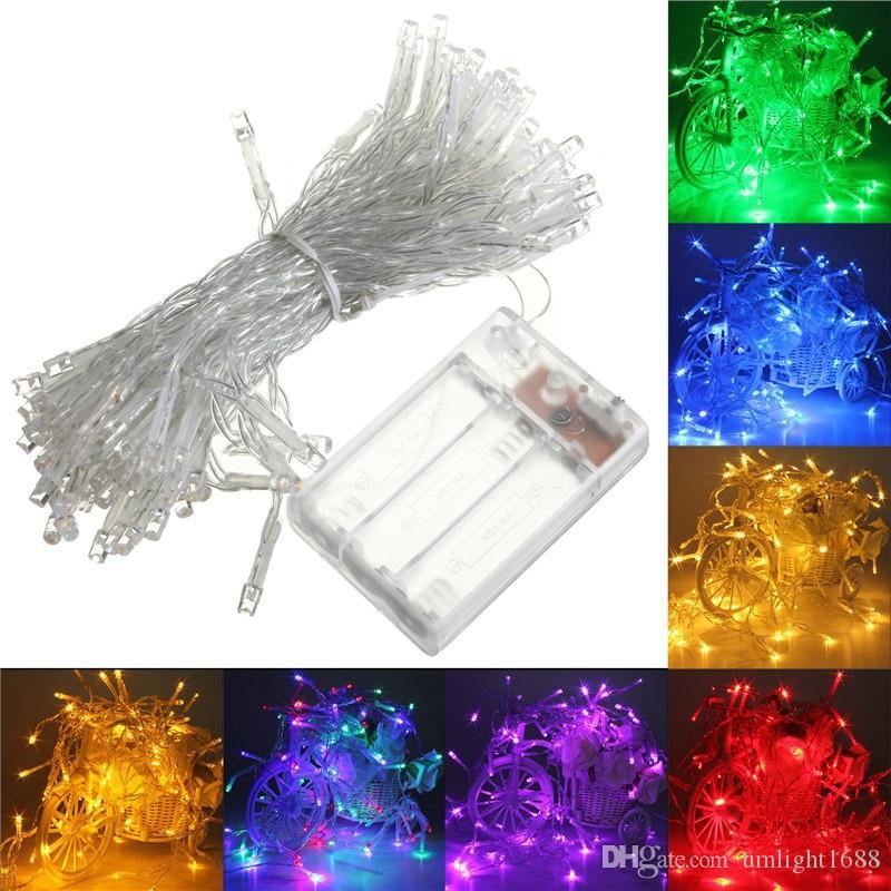 Umlight1688 AA Batterie betrieben Lichterketten 2M 20LED 4M 40LEDs 5M 50LEDs LED Kupferdraht Fairy Lichterketten für Weihnachten Home Party