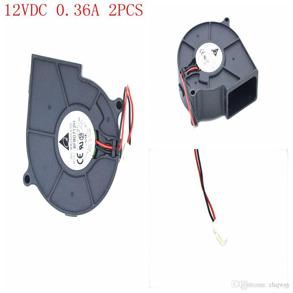 Bürstenloser Kühlgebläse-Heizkörper DC-Ventilator-Gebläse 12VDC 0.36 2pcs