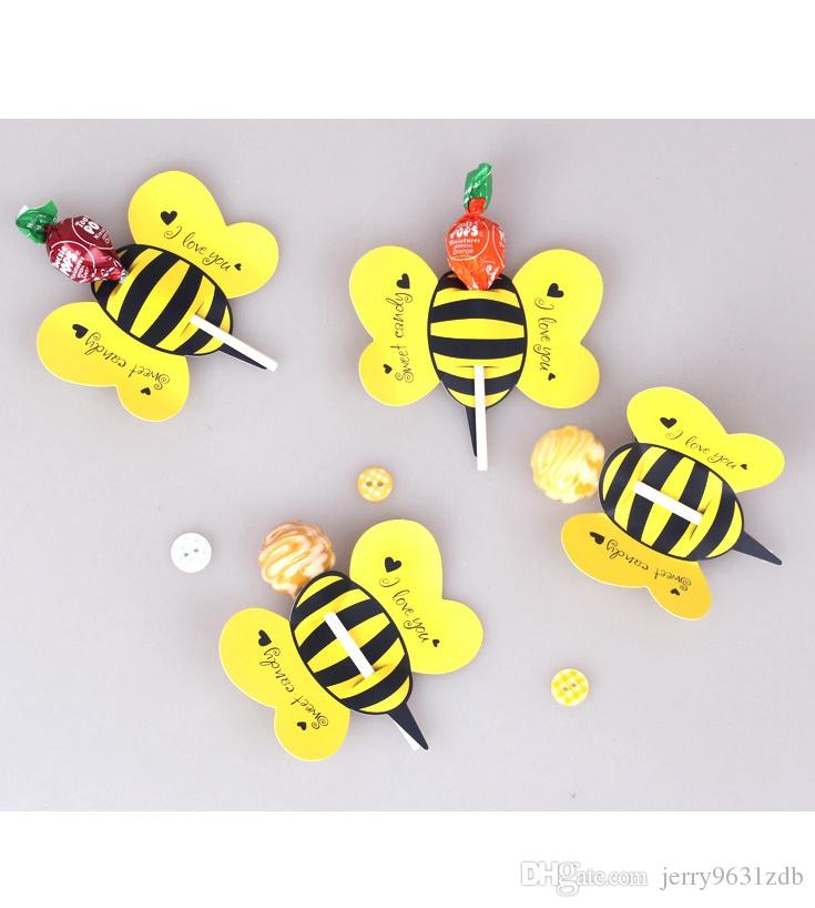 Only Lollipop PaperLadybug Candy Paper Honeybee Party Favor Butterfly Decoration