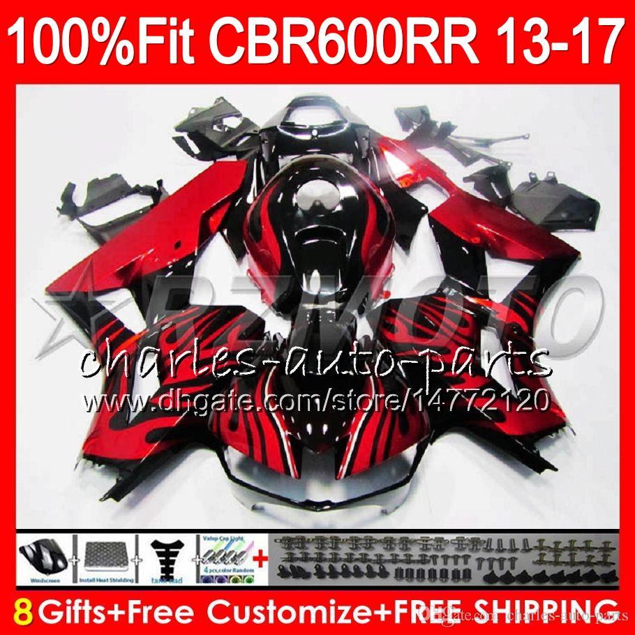 HONDA CBR600 RR CBR 600RR F5 13 17 Takımı Kırmızı alevler 89NO83 CBR 600 RR 13 14 15 16 17 CBR600RR 2013 2014 2015 2016 Fairing Enjeksiyonu