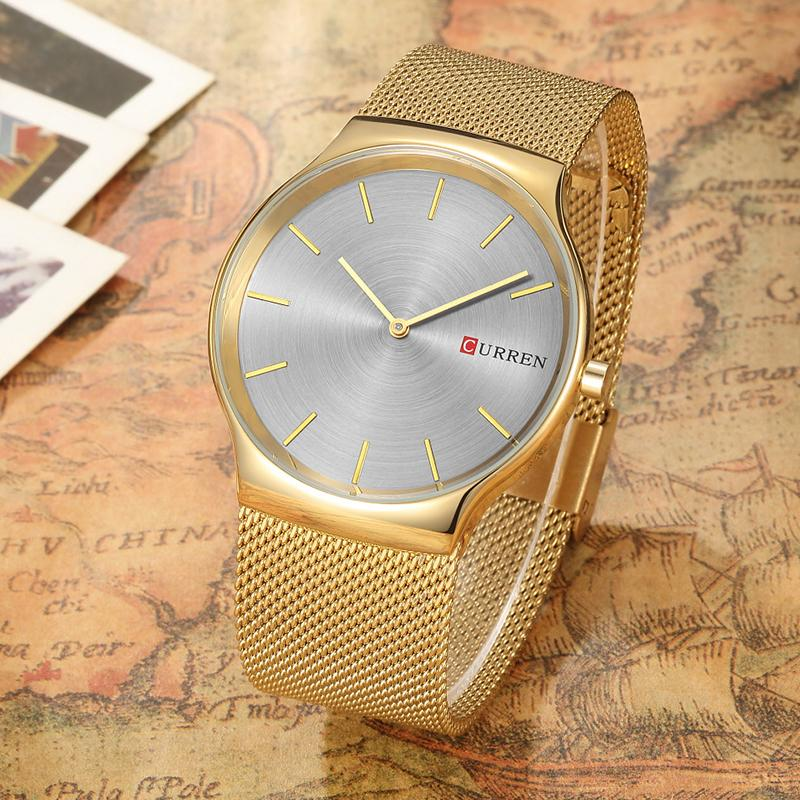 CURREN Black Rose Gold Pointer Business Relogio Masculino Luxury Analog Sports Wristwatch Brand Quartz Business Watch Men 8256
