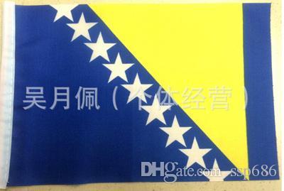 Bosnia y Herzegovina bandera nación 3ft x 5ft poliéster bandera Flying150 * 90 cm bandera personalizada en todo el mundo en todo el mundo al aire libre