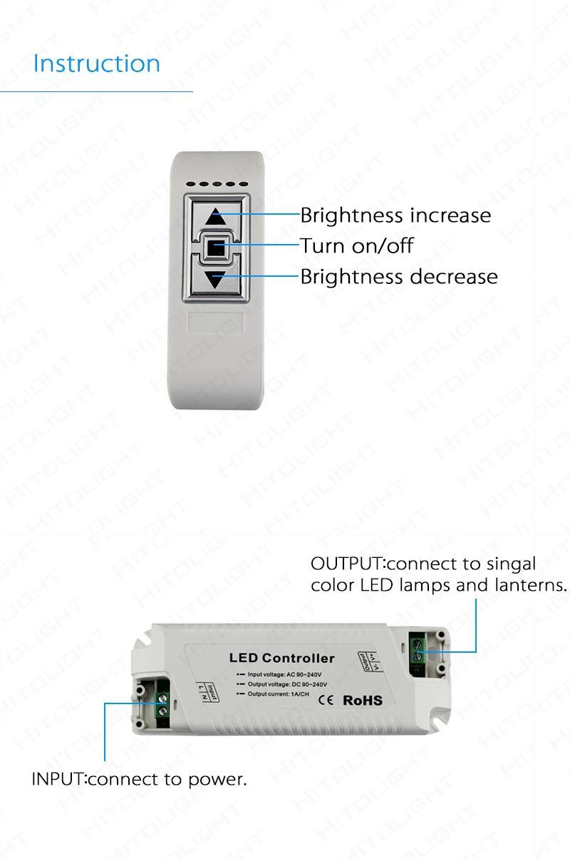 Großhandel HITOLIGHT Hochspannungs-AC 90-240V LED-Dimmer mit 3 ...
