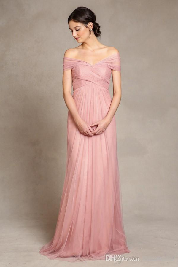 Convertible Bridesmaid Dresses With Tulle A Line Sweetheart Floor ...