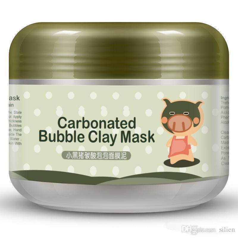 Al por mayor-carbonatadas Máscara de Arcilla burbuja Maks máscara facial Mascarilla Arcilla para Cara de la nave libre de la hembra 100g Hidratante