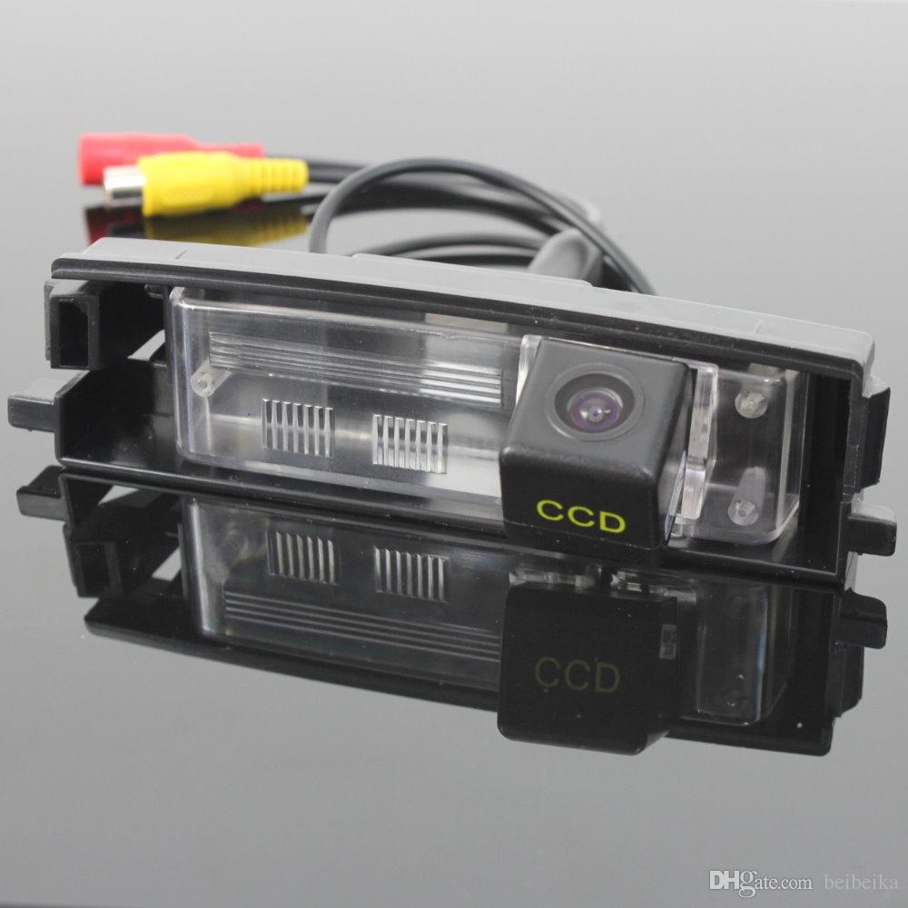 자동차 주차 카메라 / HD CCD 토요타 RAV4 XA30 2005 ~ 2012 (스페어 휠 온 도어) 용 RCA NTST 라이센스 플레이트 라이트 OEM / 리어 뷰 카메라