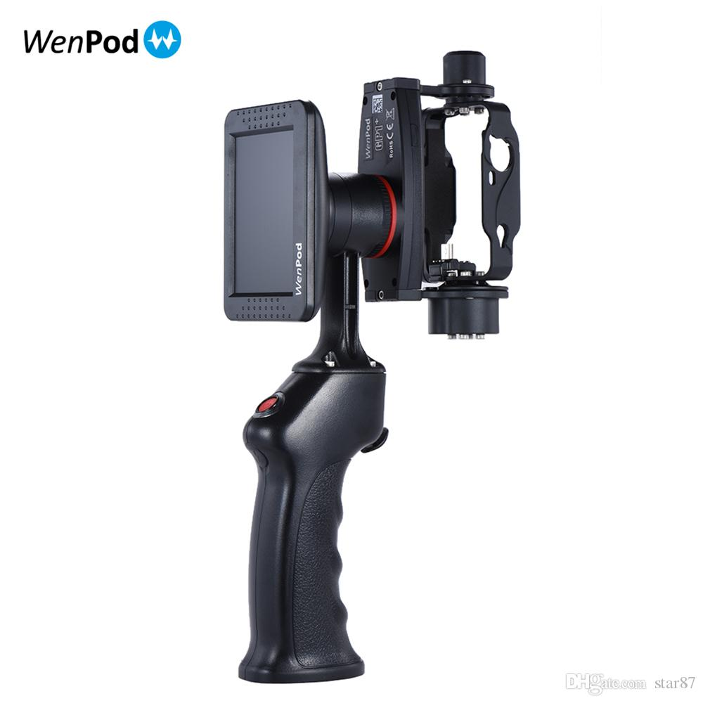 "Original WenPod GP1+ Adventure Camera Stabilizer Handheld Gimbal with 3.5"" LCD Built-in Monitor for GoPro Hero 3 3+ 4 Action Cameras"