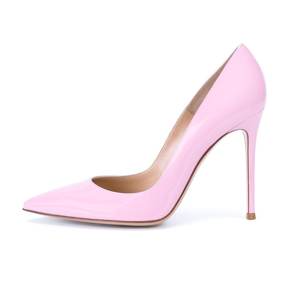 Zandina Ladies Handmade Fashion Elegant 100mm Pointy Basic Office Party Prom High Heel Pumps Shoes Pink Z71017