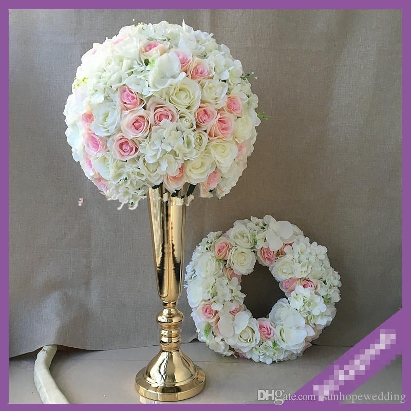 Elegant mental wedding centerpieces flower 154stand for table decoration