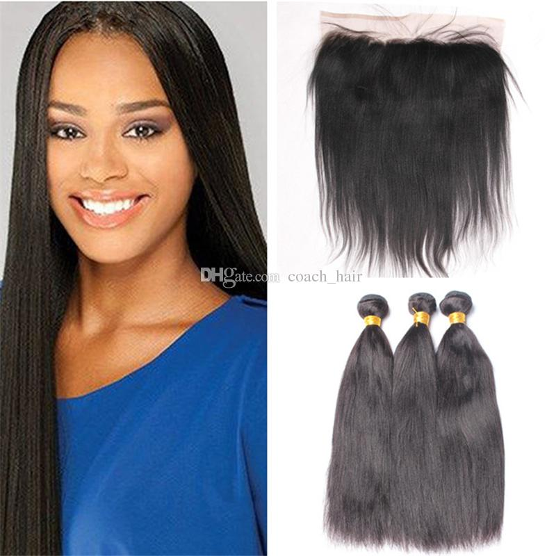 Malaysian virgin hair yaki straight human hair weaves 3 bundles malaysian virgin hair yaki straight human hair weaves 3 bundles with 134 lace frontal pmusecretfo Images