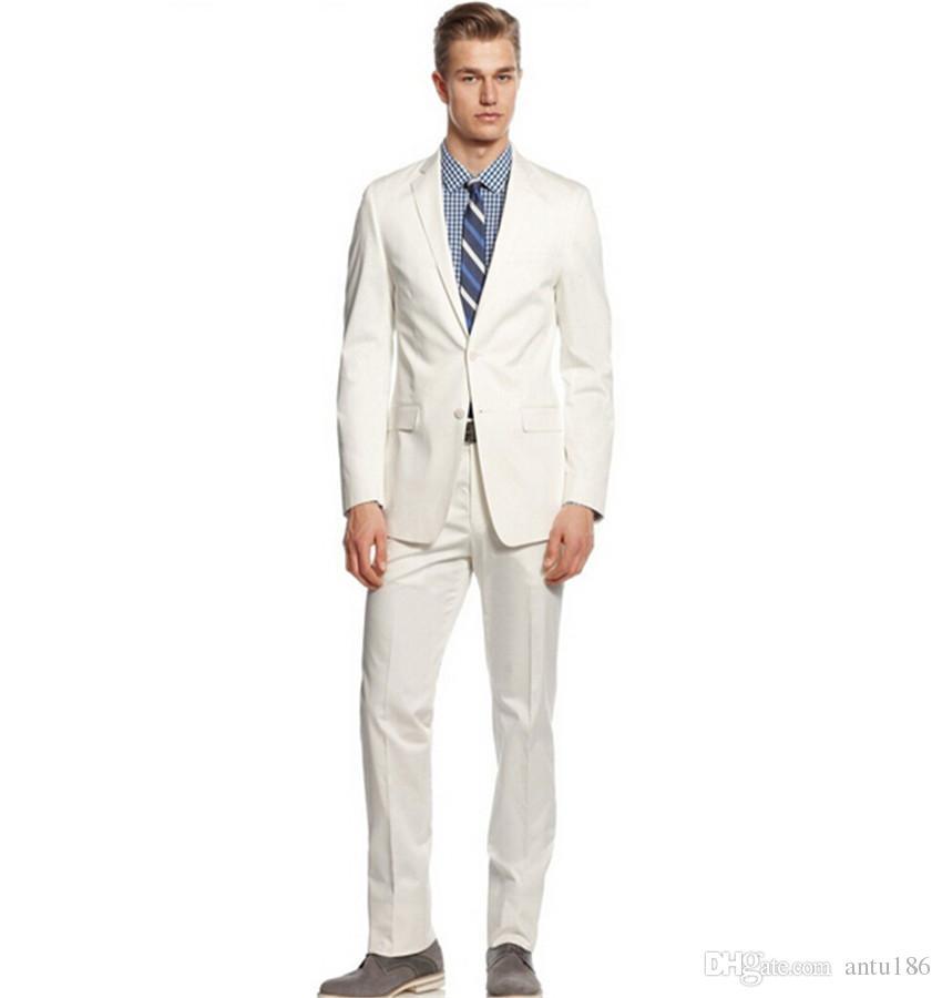 Özel yapılmış Erkek düğün suit erkek parti iki parçalı takım elbise tasarım en iyi adam düğün beyaz takım elbise (ceket + pantolon)