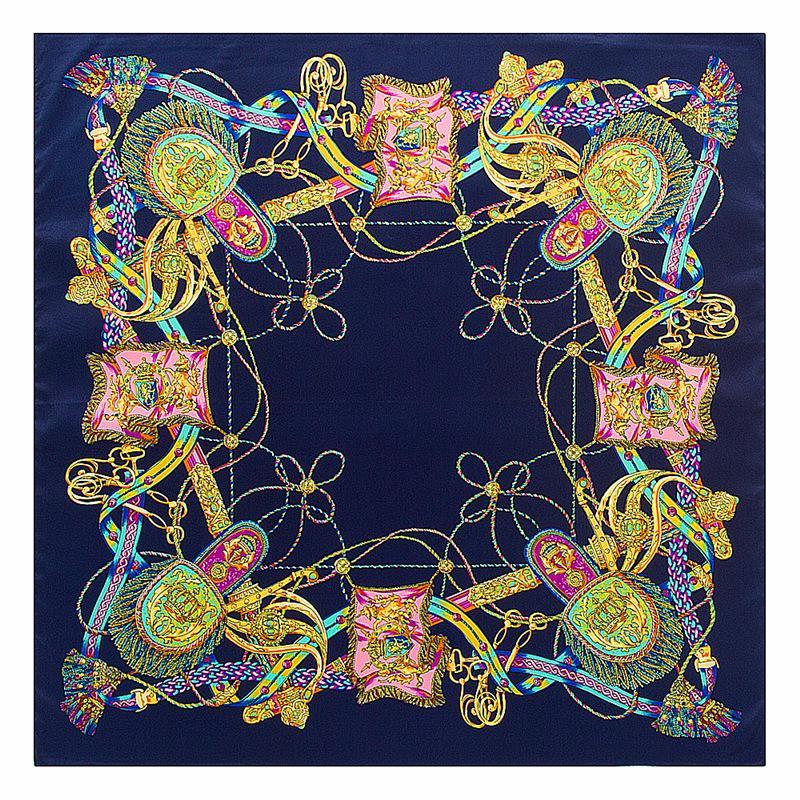 الجملة - 60 سم * 60 سم حك الحرير H حبل مهدب سيدة وشاح الحرير مربع صغير