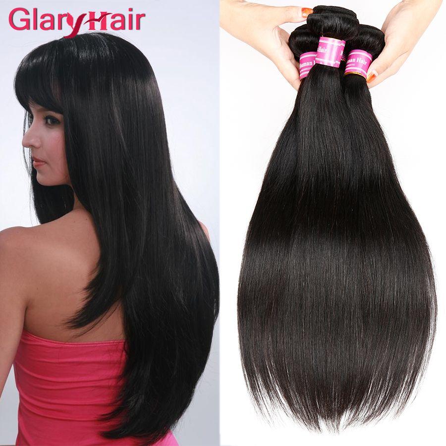 Real Human Hair Extensions 8a Mink Brazilian Virgin Hair Bundles Straight Weave Cheap Remy Peruvian Hair Weave Bundles 5pcs Free Shipping