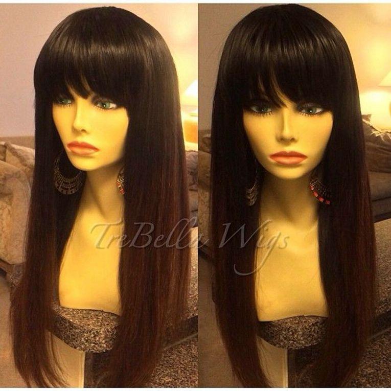 شعر كامل لا الدنتلة مع الانفجارات قبعة الشعر رخيصة لا الدانتيل 130 ٪ الكثافة حريري مستقيم جيت الأسود
