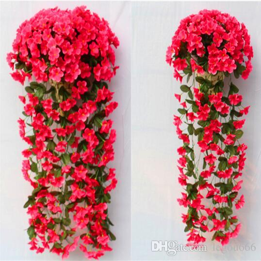 2018 wedding decoration artificial flowers pattern violet wall