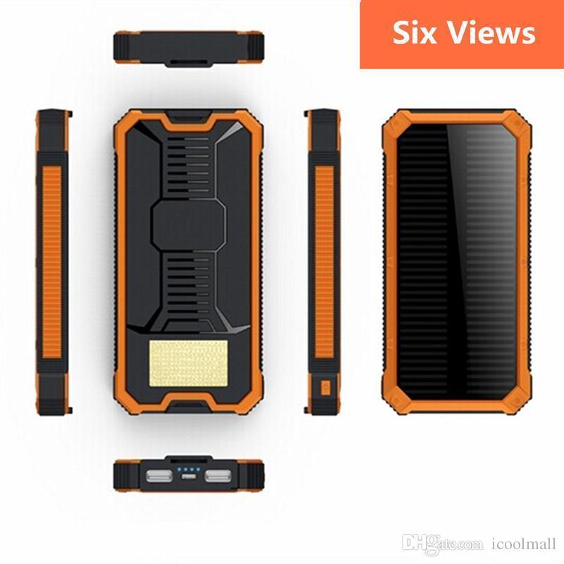 100% Original 20000mAh Portable Powerbank Dual USB Port Solar Power Bank External Backup Charger Battery Powerbank