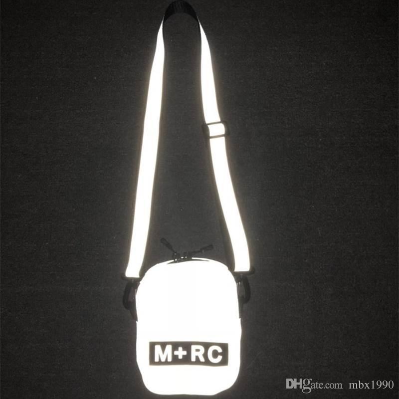 2018 New M RC NOIR Skateboards Bag Attractive Cute Casual Mens Shoulder Bag Mobile Phone Packs Storage Bag Reflective Messenger Bags