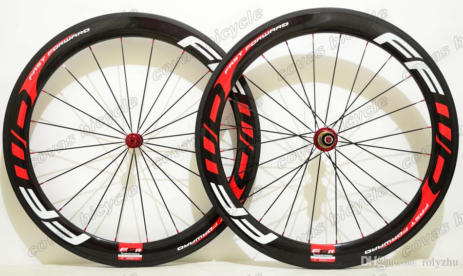 Free shipping 700C 25mm width full Carbon Wheels 60mm depth clincher/Tubular Road Bicycle carbon Wheelset with Powerway R13 Hub