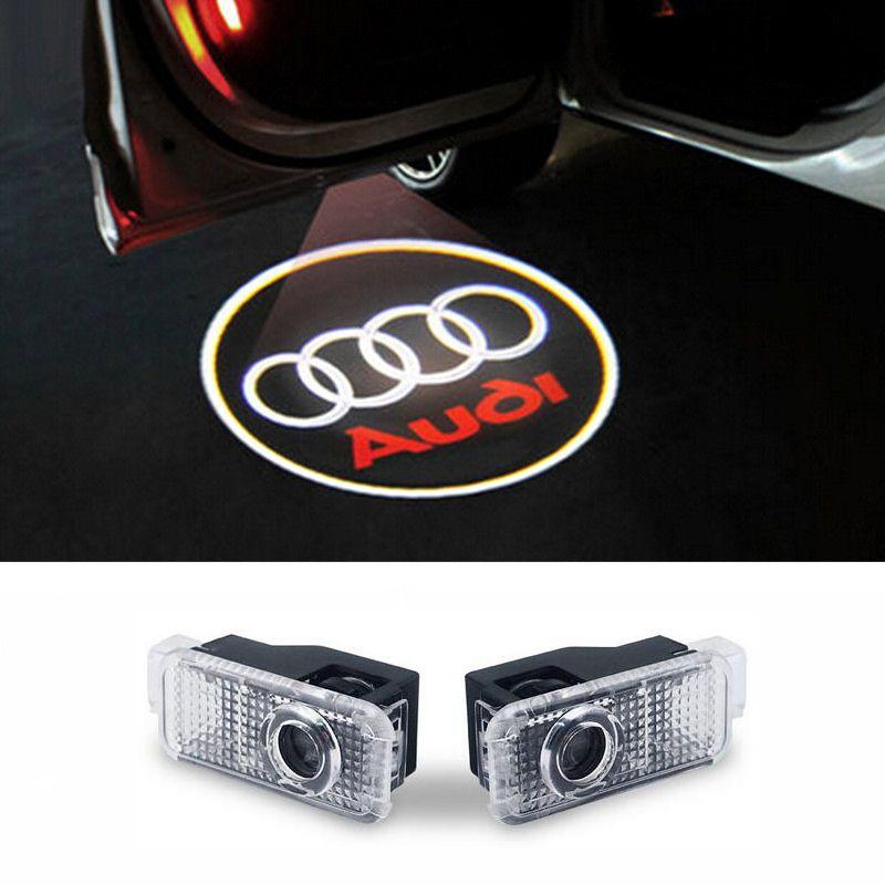 LED Porte De Voiture Bienvenue Lumières Laser De Voiture Porte Ombre Led Projecteur Logo Pour AUDI A3 A4 b8 A5 c5 A7 A8 R8 Q5 Q7 TT Sline 8q a1